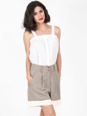 Chaton 2 Fabric Shorts Olive Green