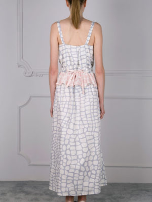 Milkwhite Croco Long Dress