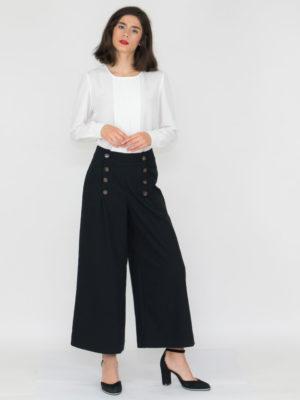 Chaton Black Wide Pants