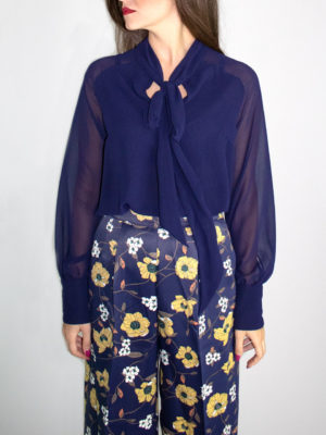 Chaton Top Navy Blue