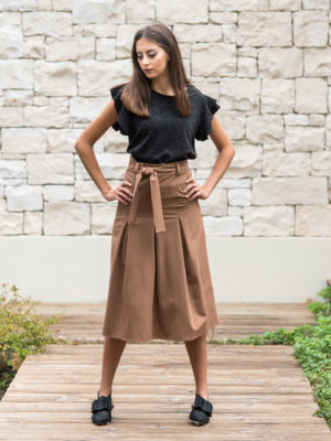 Chaton Skirt with Pleats