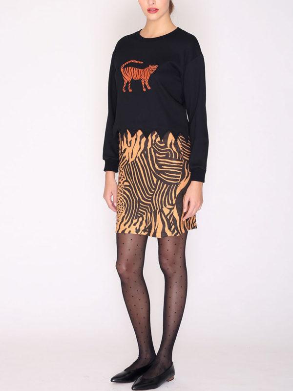 Pepaloves Tiger Sweatshirt Black
