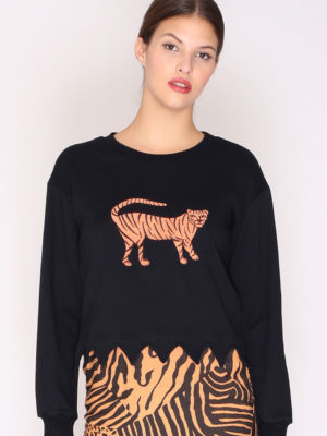 Pepaloves Tiger Sweatshirt Black