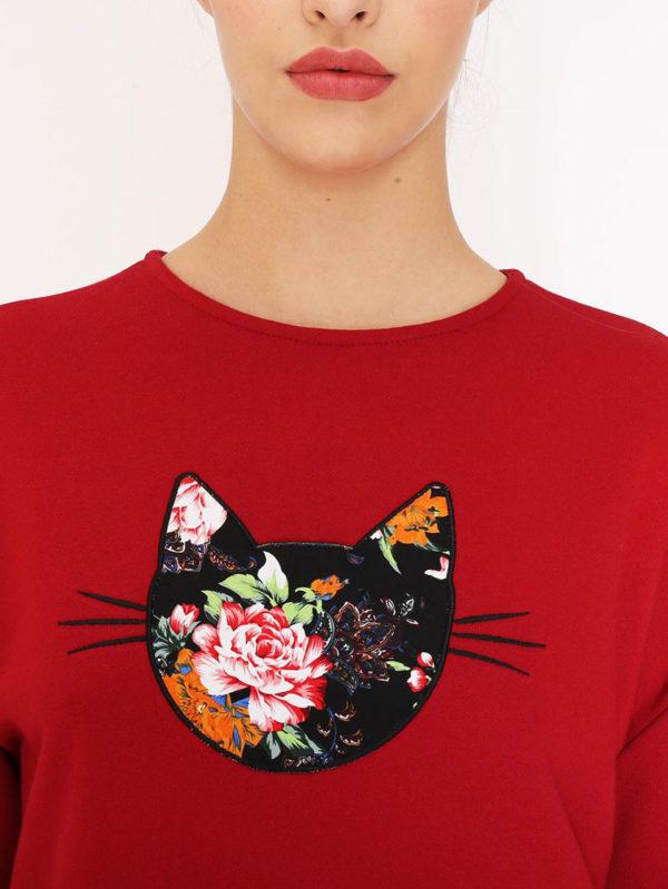 Pepaloves Whiskers Flower Cat Sweatshirt