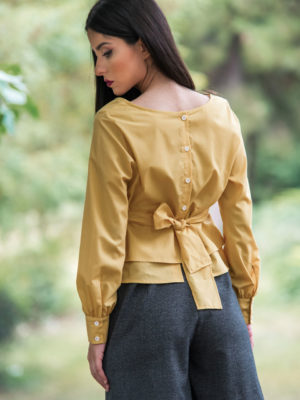 Chaton Yellow Ochre Shirt
