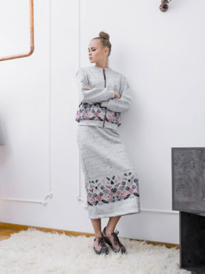 Arpyes Printed Scuba Skirt