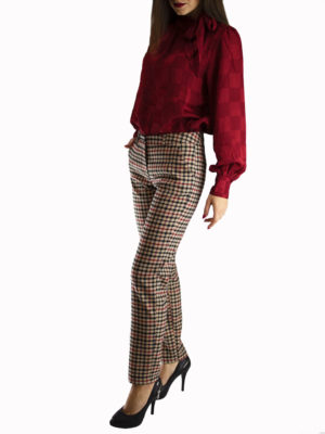 Milkwhite Plaid Trousers