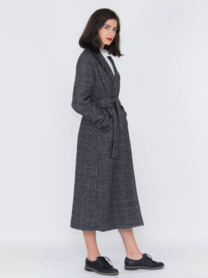 Chaton Long Plaid Coat