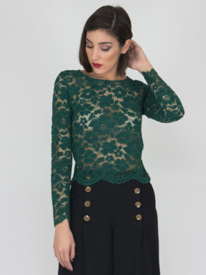 Chaton Lace Top Green