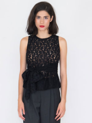 Chaton Lace Top with Belt