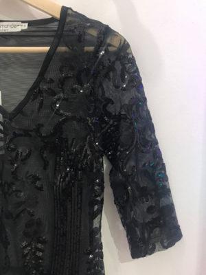 Dyemonde Black Bodysuit