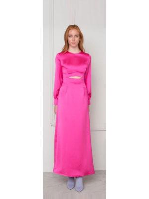 Milkwhite Φούξια Φόρεμα