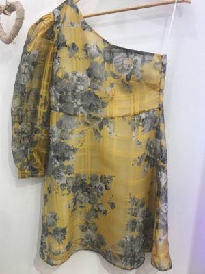 Milkwhite One Shoulder Dress