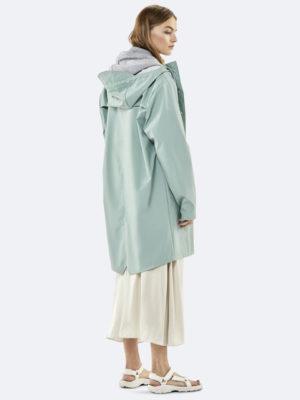 Rains Long Jacket Dusty Mint
