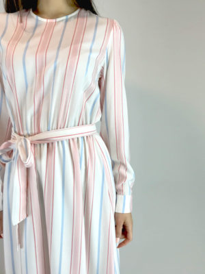 Milkwhite Striped Dress