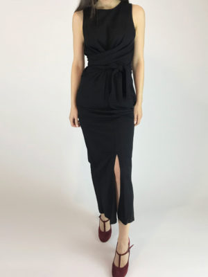 Ofilia's Maxi Black Dress
