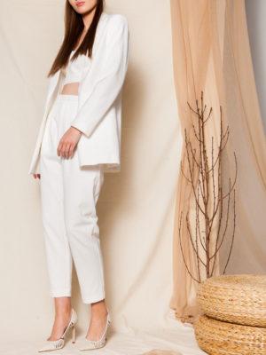 Ananke Lavinia White Blazer