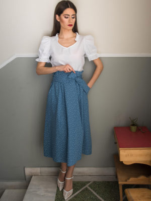 Chaton Light Blue Skirt
