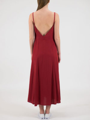 Chaton Κόκκινο Φόρεμα με Κουμπιά