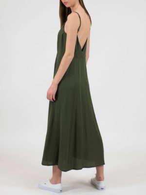 Chaton Χακί Φόρεμα με Κουμπιά