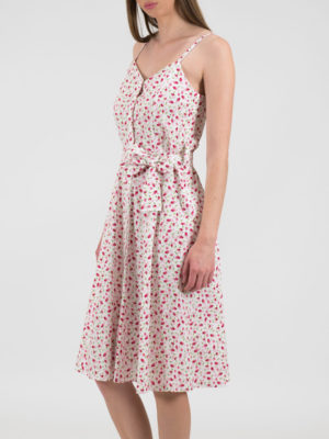Chaton Floral Dress White