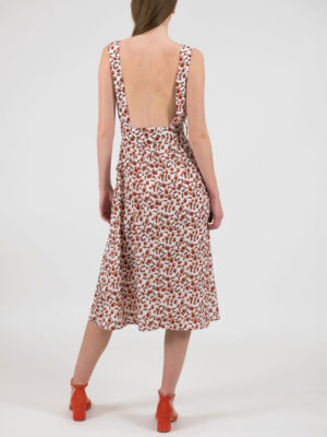 Chaton Open Back Floral Dress