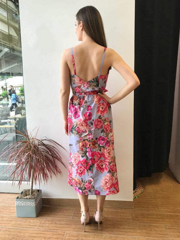 Milkwhite Φλοράλ Ροζ Φόρεμα