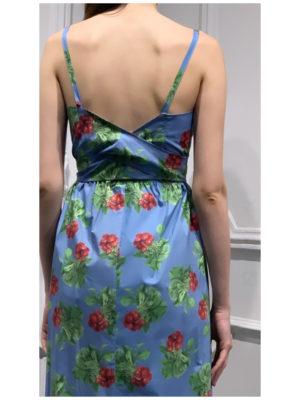 Milkwhite Blue Radish Dress