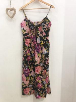Milkwhite Floral Black Dress
