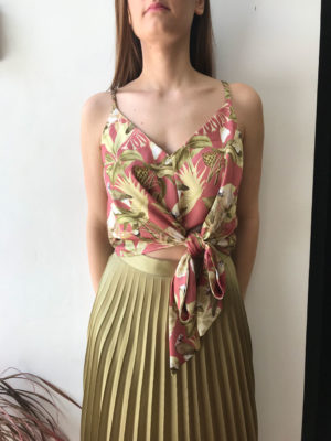 Milkwhite Olive Floral Top
