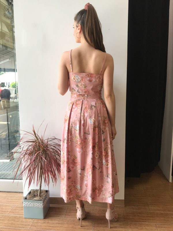 Milkwhite Pink Floral Skirt