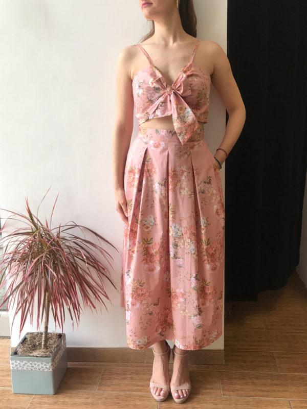 Milkwhite Pink Floral Top