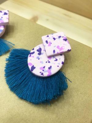 Σκουλαρίκια Μπλε Φουντάκι