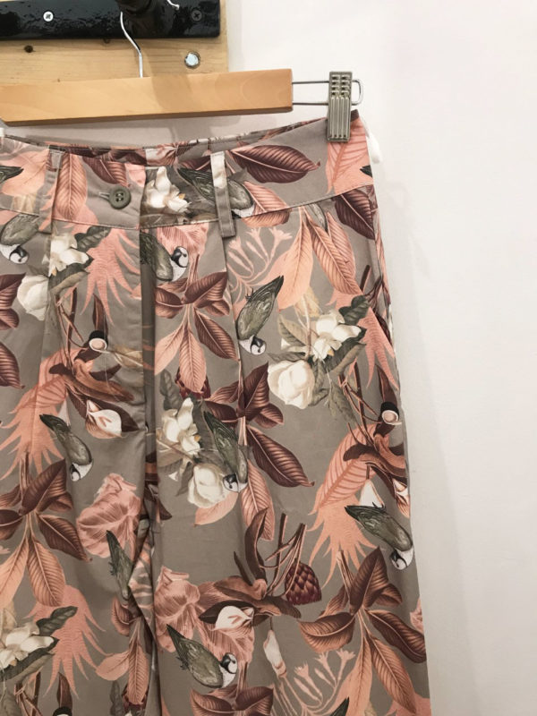 Milkwhite Floral Pants