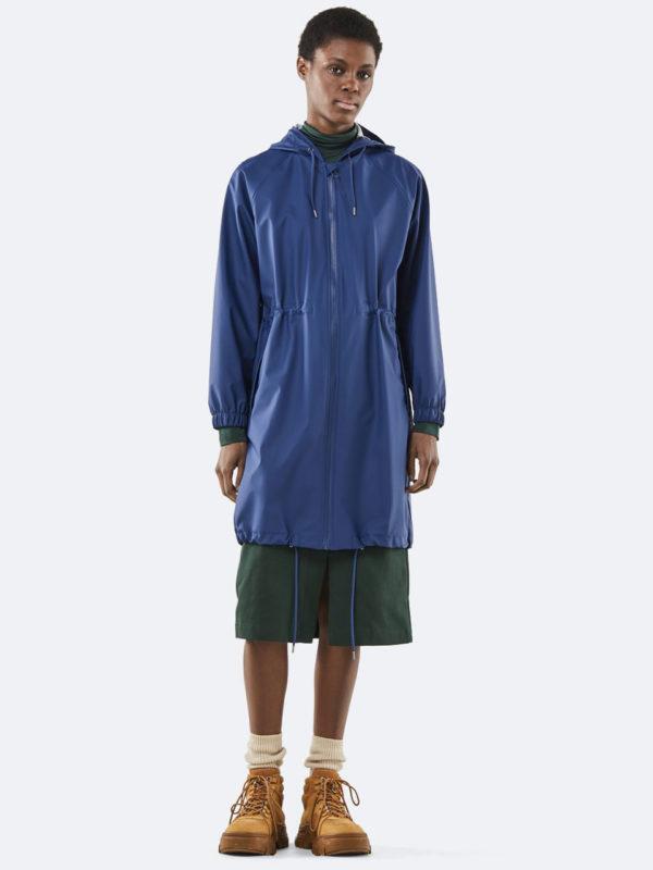 Rains Long W Jacket Klein Blue