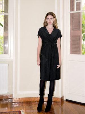 Ofilia's Black Lurex Dress