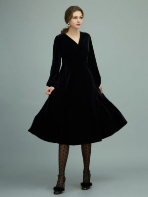 Orion London Norma Velvet Dress