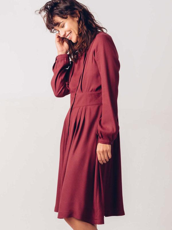 Skfk Iria Dress Burgundy
