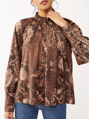 Twist & Tango Mandy Blouse Brown Snake