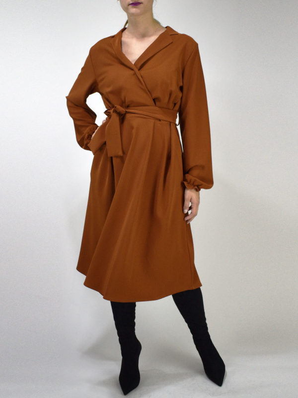 Chaton Dress Orange Bronze