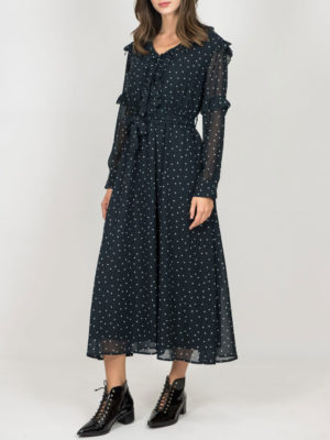 Chaton Dress Polka Dots Green