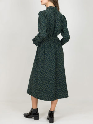 Chaton Feather Dress Green