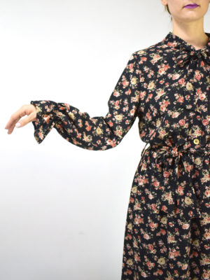 Chaton Floral Dress Black
