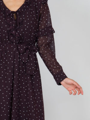 Chaton Polka Dots Dress Mauve