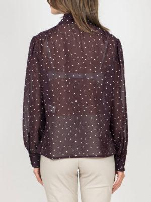 Chaton Shirt Polka Dots Mauve