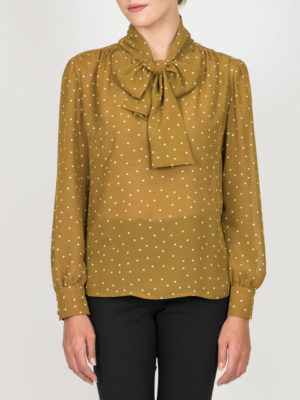 Chaton Shirt Polka Dots Yellow Ochre