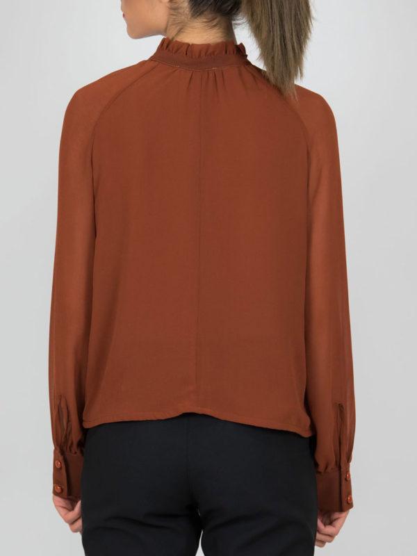 Chaton Shirt With Frills Keramic