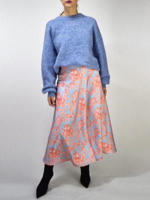 Milkwhite Glossy Skirt Light Blue