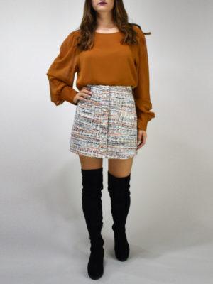 Milkwhite Tweed Skirt