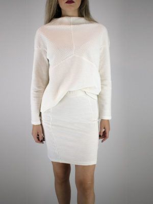 Ofilia's Cord Skirt Off-white